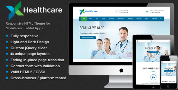 Health & Care - Medical HTML5 Template            TFx