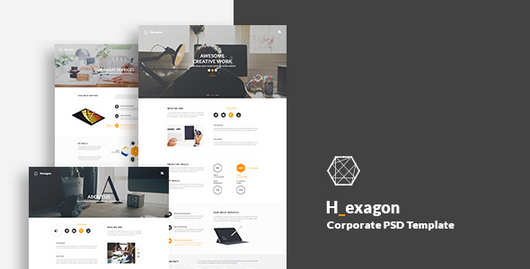 Hexagon – Corporate PSD Template            TFx Martial Hugo
