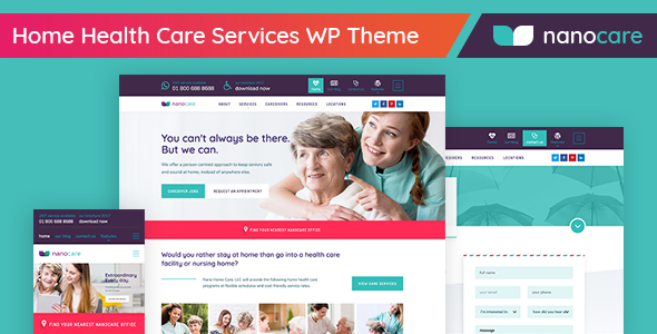 Home Health Care, Medical Care WordPress Theme - NanoCare            TFx