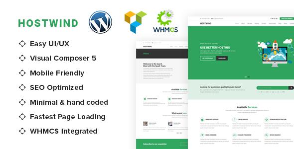 HostWind - Hosting WordPress theme with WHMCS            TFx