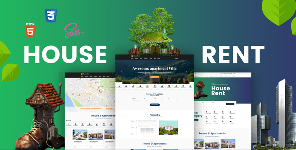 HouseRent - Multi Concept House, Apartment Rent HTML Template            TFx