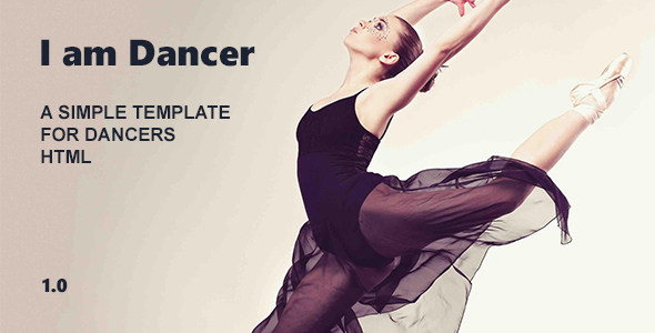 I am Dancer – HTML Template Bootstrap            TFx Spike Guntur