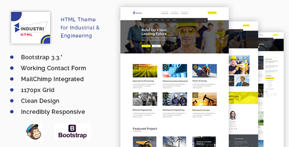 Industri - Ultimate Construction Responsive  HTML Template            TFx Chauncey Reginald