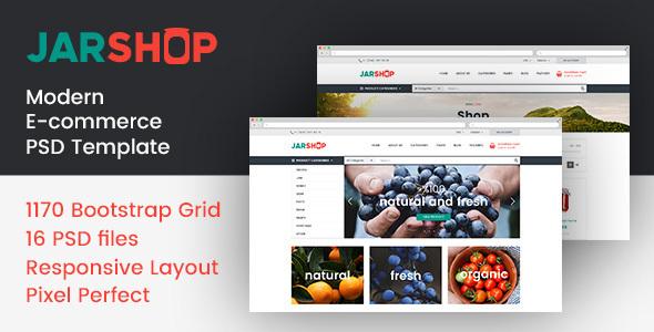 JARSHOP - Multipurpose E-Commerce PSD Template            TFx