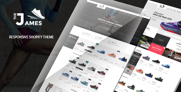 James - Responsive Shopify Drag and Drop Shoes Store Theme            TFx Jeffery Ferdy
