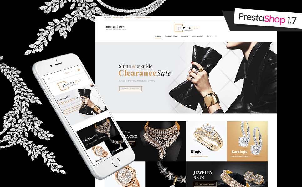 Jewelrix - Jewelry & Beauty Items PrestaShop Theme TMT Carloman Athelstan