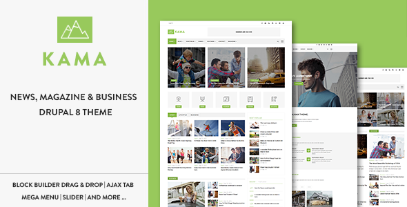Kama - Responsive Magazine & Business Drupal 8 Theme            TFx