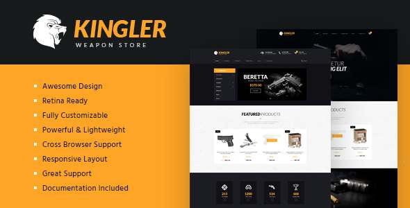 Kingler | Weapon Store & Gun Training Template            TFx