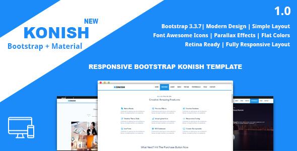 Konish - Landing Page HTML5 Template            TFx