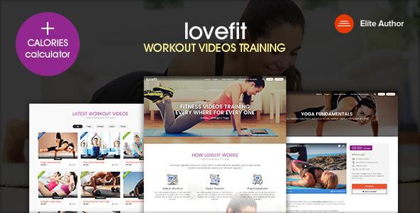 LOVEFIT - Fitness Video Training WordPress Theme            TFx