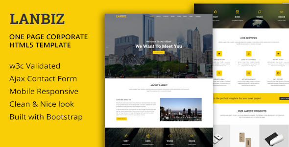 Lanbiz - One Page Corporate Html5 Template            TFx