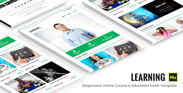 Learning - Responsive Online Course & Education Email Template            TFx