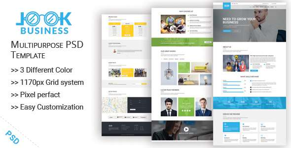 LookBusiness One-Page Multipurpose PSD Template            TFx Marcus Durward