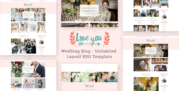 Love You - Wedding Blog PSD Template            TFx