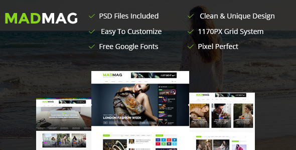 Mad Magazine and Blog Responsive HTML Template            TFx