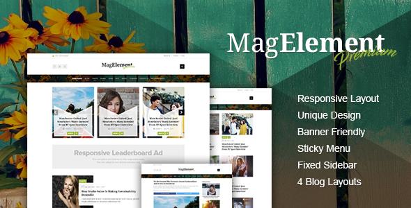 MagElement – Fresh & Modern Magazine HTML Template            TFx Tex Zane