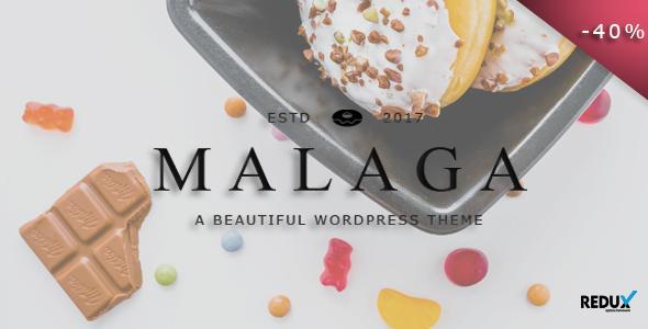 Malaga - A WordPress Theme for Food Bloggers            TFx