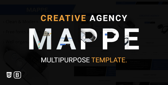 Mappe - Creative Agency Bootstrap Html Template            TFx