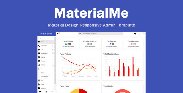 MaterialMe – Material Design Admin Template            TFx Tom Quidel
