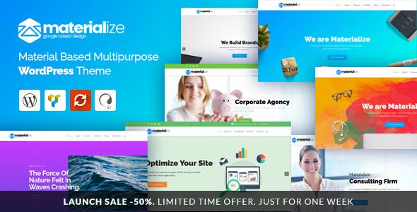 Materialize - Material Design Multipurpose WordPress Theme            TFx