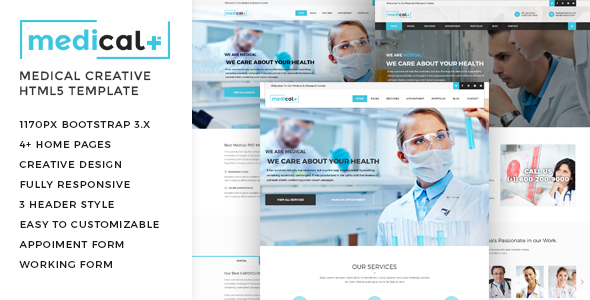 Medical - Health Care, Clinic HTML5 Template            TFx