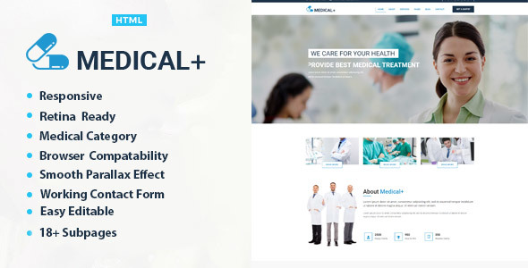 Medical Plus – Health And Medical HTML Template            TFx Ollie Shaun