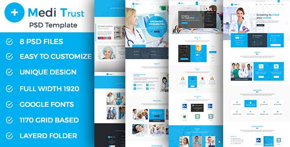 Meditrust – Medical PSD Template            TFx Tony Gusti