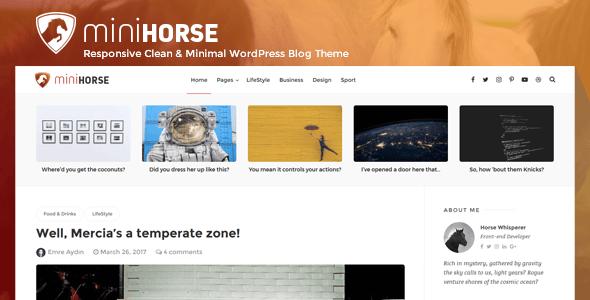 MiniHorse – Responsive Clean & Minimal WordPress Blog Theme            TFx