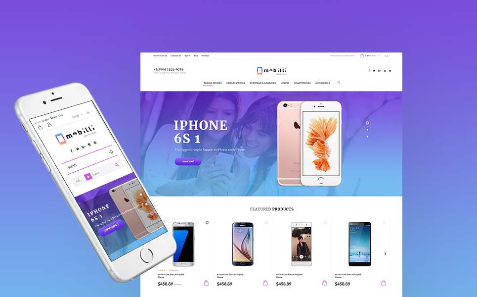 Mobilli - Mobile Phones & Accessories PrestaShop Theme TMT Osamu Karen