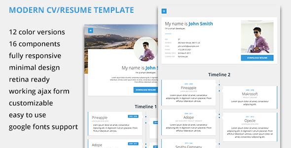 Modern CV/Resume Template            TFx