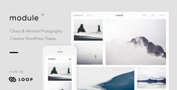 Module – A Minimalist Photography WordPress Theme            TFx Kazuki Buck