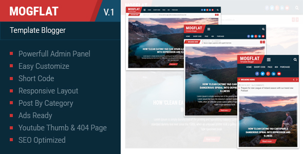 Mogtemplates – Mogflat Template For Blogger            TFx Hachirou Ferdinand