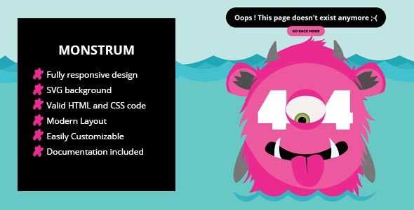 Monstrum - A Responsive 404 Page            TFx