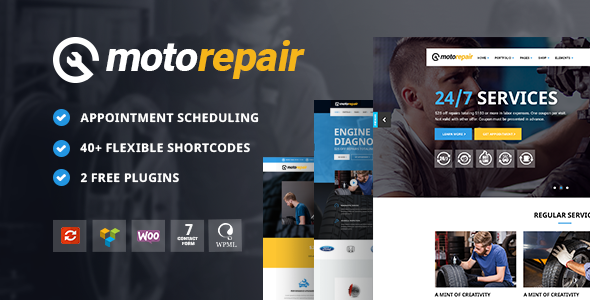 Motorepair - A Professional Theme for Car Mechanics and Workshops            TFx