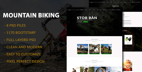 Mountain Biking PSD Template            TFx