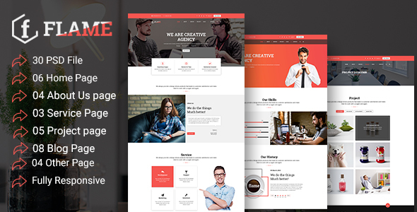 Multipurpose Corporate, Business, Agency PSD Template            TFx Sylvester Jizig