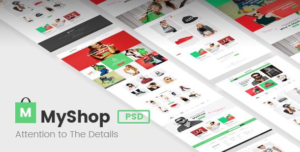 MyShop - Premium Ecommerce PSD template            TFx Percival Aidan