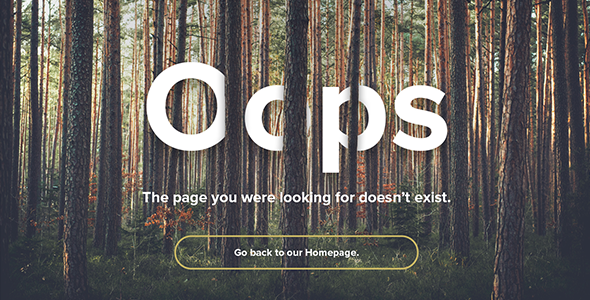 Natural Forest - Responsive 404 Error Template            TFx Delano Brad