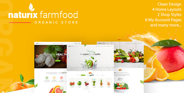 Naturix - Organic Fruit Vegetables Store HTML Template            TFx