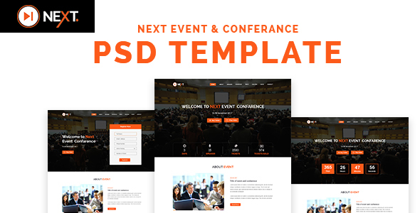 Next - Event and Conference Management PSD Template            TFx