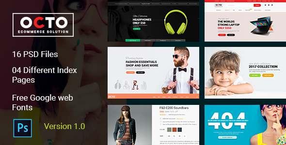 OCTO E-Commerce PSD Template            TFx Hudasxaz Kenith