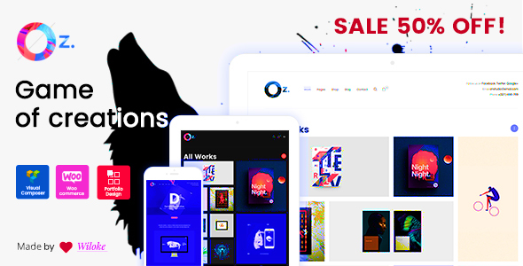 OZ - Game of Creations | Creative WordPress Theme            TFx Bryon Zach