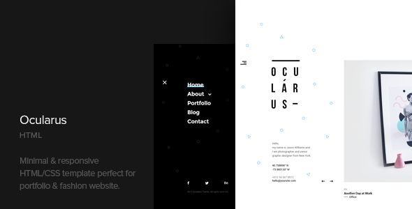 Ocularus - Minimal Photography Html Template            TFx