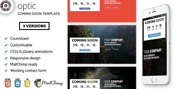 Optic – Creative Coming Soon Template            TFx