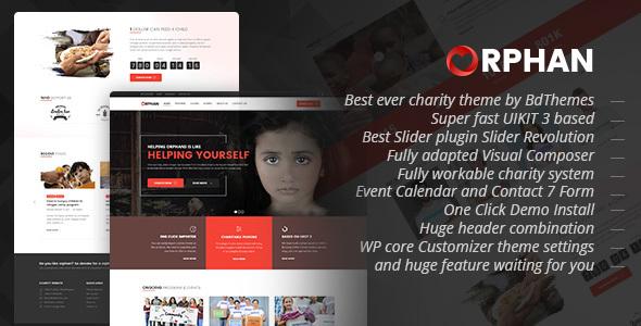 Orphan - Charity WordPress Theme            TFx