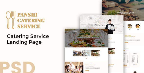 Panshi – Catering Service PSD Template            TFx Kim Gosse