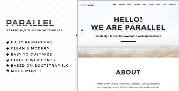 Parallel – Minimal Agency / Portfolio HTML5 Template            TFx Hank Harland