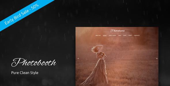 Photobooth - Clean Photo and Portfolio WordPress Theme            TFx