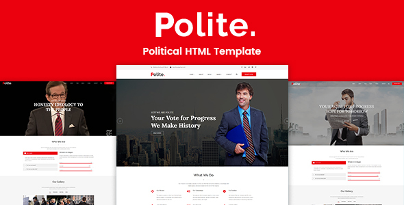 Polite – Political HTML Template            TFx