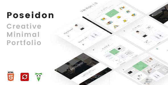 Poseidon – Creative Minimal Portfolio, Agency HTML5 Template            TFx